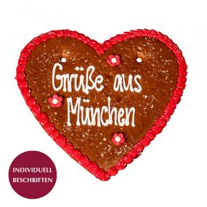 Lebkuchenherz rot, 33x32 cm