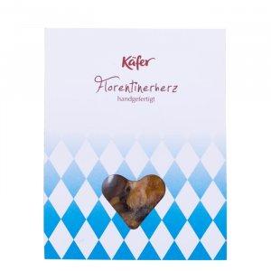 Florentinerherz, weiß-blau