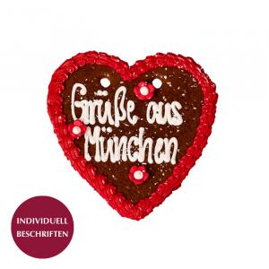 Lebkuchenherz rot, 24x24 cm