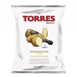 Kartoffelchips mit Sparkling Wine