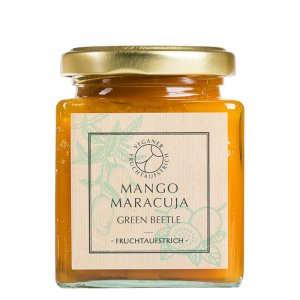 Green Beetle Mango Maracuja Fruchtaufstrich