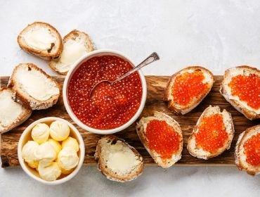 Rezepte mit Lachs und Kaviar