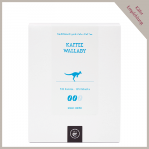 Kaffee Wallaby, ganze Bohne